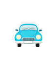 old blue retro car isolated on white background vector image
