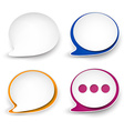 Paper rounded speech bubble vector image