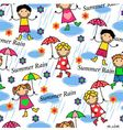 people in the rain vector image vector image