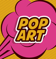 Pop art design vector image