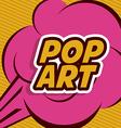 Pop art design vector image vector image