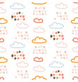 rainy clouds cute pastel colors seamless vector image vector image