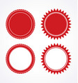 red blank award certificate seal set vector image