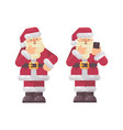 santa claus thinking and scratching his beard vector image