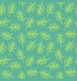 seamless pattern with image olive branch vector image vector image
