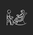 senior citizen socializer chalk white icon vector image vector image