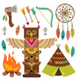 set of isolated tribal elements vector image vector image