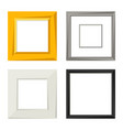 set of various frames for pictures and photos vector image