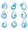 Set of water design elements emblems signs logo vector image