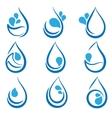 set water design elements emblems signs logo vector image
