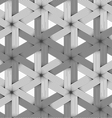 Shades of gray striped six ray stars vector image vector image