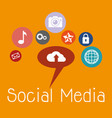 social media set icons vector image vector image