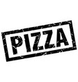 square grunge black pizza stamp vector image vector image