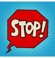 stop sign warning symbol vector image vector image
