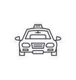 taxi line icon concept taxi linear vector image vector image