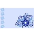 The frame of the blue flower vector image vector image