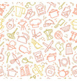 the seamless multi-colored pattern on the kitchen vector image vector image