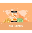 Time is Money Concept Hourglass Coins vector image vector image
