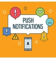 Web push notifications for your website with vector image vector image