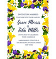 wedding ceremony invitation with yellow flowers vector image vector image
