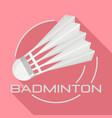 white badminton shuttlecock logo flat style vector image vector image