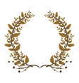 wreath leaves foliage floral vector image vector image