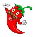 yummy chili mascot vector image