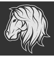 Horse symbol logo for dark background vector image