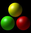 Set of colorful balls vector image
