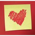 sticky note valentines vector image