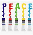 inscription peace - vector image