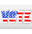 Vote buttons with red and blue colors vector image