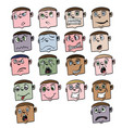 cartoon face 2 vector image