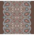 Paisley lace seamless borderCute oriental vector image