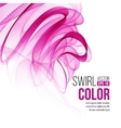 red swirl line abstract background vector image