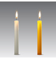 3d realistic white and orange paraffin vector image vector image