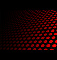 abstract black red circle mesh 3d background vector image