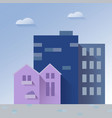 beautiful cityscape paper art style vector image
