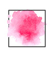 beautiful pink watercolor stain vector image vector image