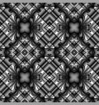black and white seamless metal pattern vector image