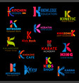 business icons and company symbols of letter k vector image vector image