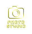 camera icon flat photo isolated modern vector image vector image