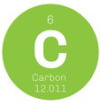 Carbon chemical element vector image vector image