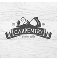 Carpenter design element in vintage style vector image vector image