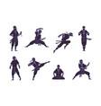 cartoon ninja funny japanese warrior character vector image
