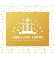 Christmas Eve Candlelight Service Invitation vector image vector image