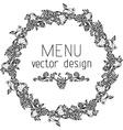 Circle menu design vector image