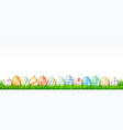 collection of easter eggs on white background vector image