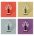 Concept flat icons with long shadow Money Tree vector image vector image