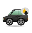 coupe car gasoline oil icon vector image